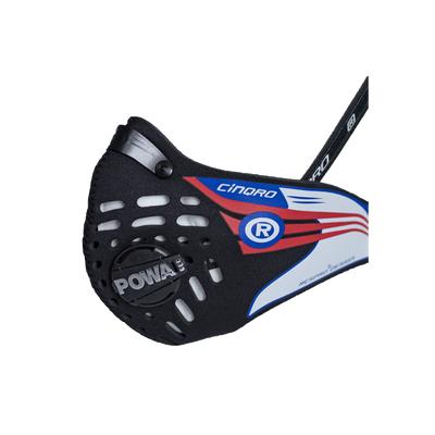 RESPRO CE Cinqro Black - sportowa maska antysmogowa przeciwwirusowa PM2.5 PM10 rozmiar XL