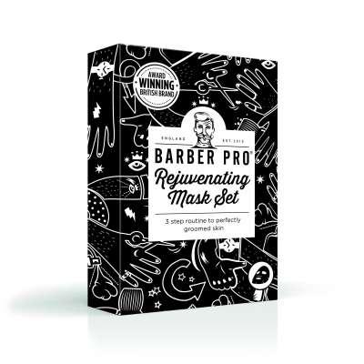 BARBER PRO Rejuvenating Mask Set - 3-etapowa pielęgnacja odmładzająca