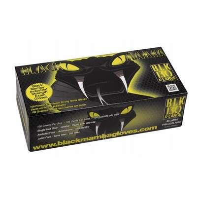 SOSOFT BLACK - czarne ochronne rękawiczki nitrylowe 100 szt. Rozmiar M (1)