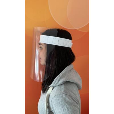 Przyłbica ochronna z regulacją obwodu głowy