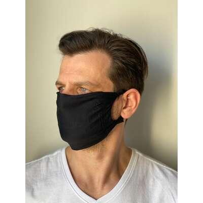 Maseczka ochronna na twarz z jonami srebra wielorazowego użytku 1 szt.