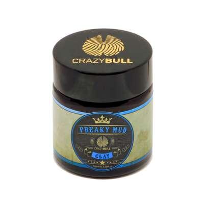 Crazy Bull Freaky Mud - glinka do włosów mocny chwyt / matowe wykończenie 100 ml