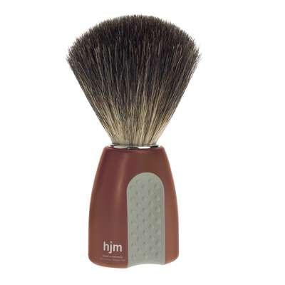 Mühle hjm Męski pędzel do golenia z włosia borsuka czerwono-szary (181 P 8 RO/GR)