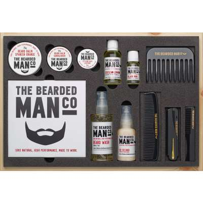Bearded Man Co Master Collection Luxury Beard Kit - prezentowy zestaw do brody Rain Forest