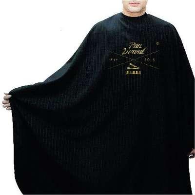 Pan Drwal pelerynka barberska czarna / złote logo