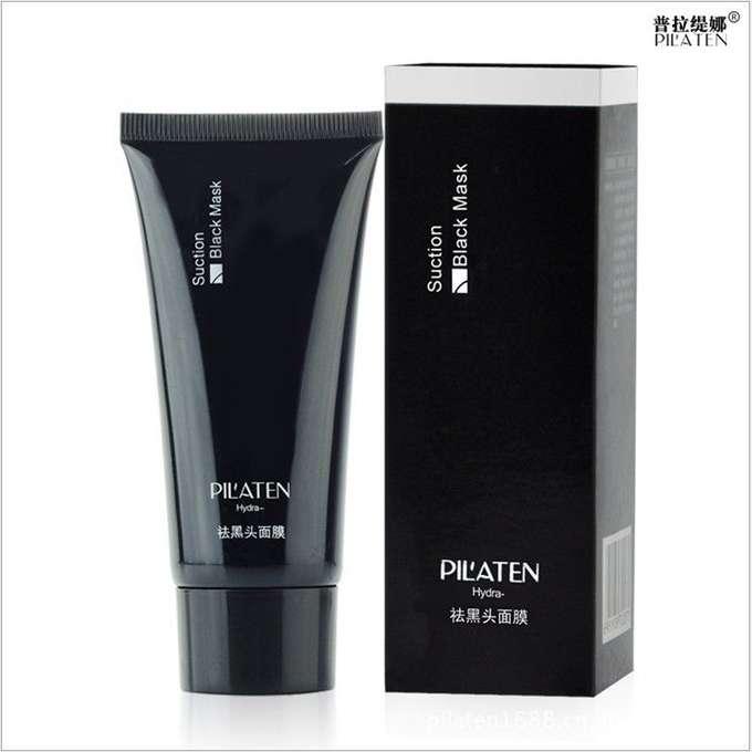 Pilaten Hydra Black Mask - męska czarna maska oczyszczająca z bambusa 60ml