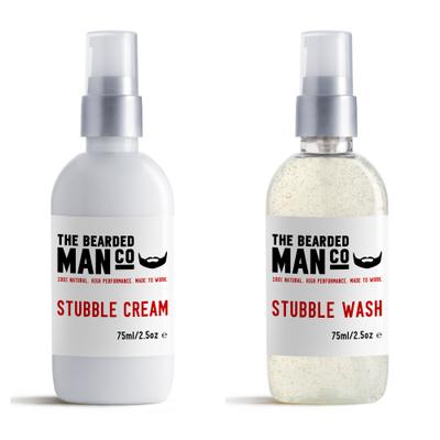 [Zestaw] Bearded Man Co Stubble Cream - nawilżający krem do krótkiego zarostu i twarzy 75 ml + Bearded Man Co Stubble Wash - nawilżający peeling do twarzy i zarostu 75 ml