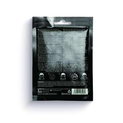 BARBER PRO Skin Renewing Foil Mask - foliowa rozgrzewająca maska z kwasem hialuronowym i Q10