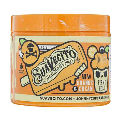 Suavecito Johnny Cupcakes  Orange and Cream Firme Hold Pomade 113g