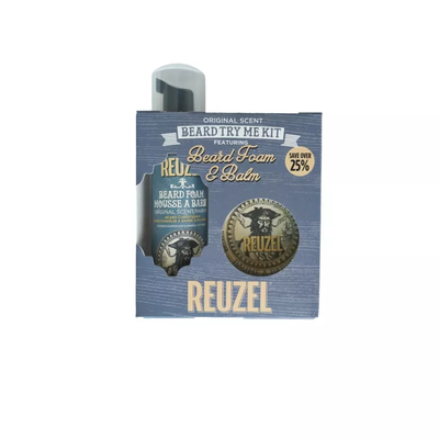 Reuzel Zestaw Try Me Beard Kit - pianka i balsam