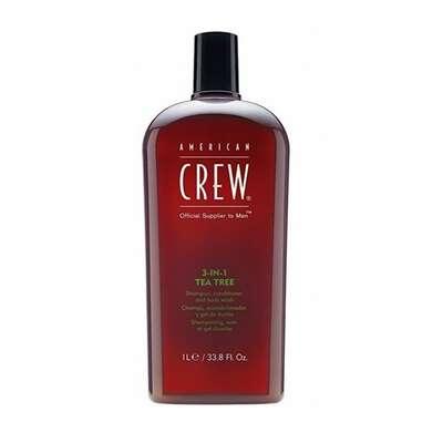 American Crew Tea Tree - 3w1 męski szampon żel pod prysznic i odżywka w jednym 1000 ml