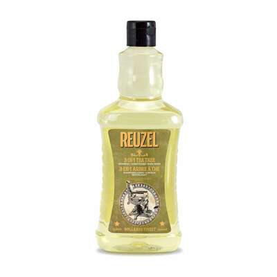 Reuzel 3w1 Tea Tree - męski szampon, żel pod prysznic i odżywka w jednym 350 ml (1)
