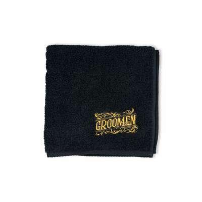 Groomen czarny ręcznik barberski 50x100cm