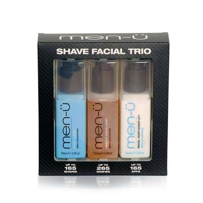 men-u Duży klasyczny zestaw do golenia: 3 skoncentrowane produkty