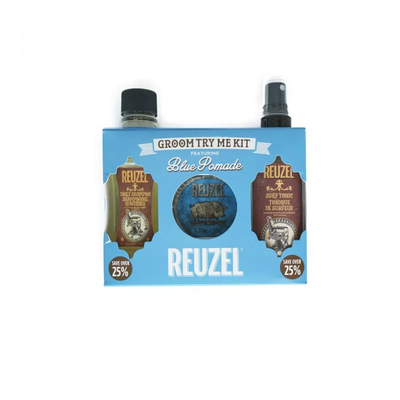 Reuzel Zestaw Try Me Kit Blue - szampon, surf tonic i pomada Blue
