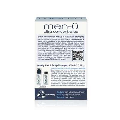 men-u refill kit - przeciwłupieżowy normalizujący szampon do włosów zestaw 2x100 ml