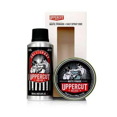 Uppercut deluxe - zestaw do stylizacji włosów - matte pomade i salt spray