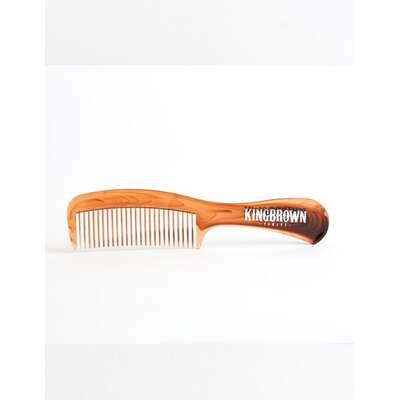King Brown - brązowy grzebień z rączką  do włosów