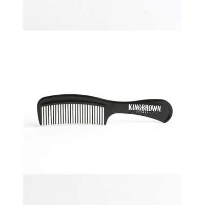 King Brown - brązowy grzebień z rączką  do włosów (1)