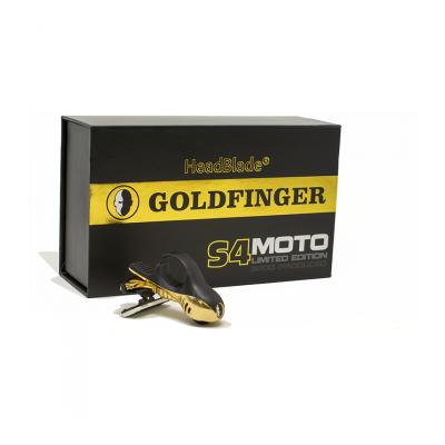 HeadBlade S4 Moto Goldfinger - Męska maszynka do golenia głowy na łyso