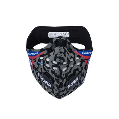 RESPRO CE Cinqro Camo - sportowa maska antysmogowa przeciwwirusowa PM2.5 PM10 rozmiar M