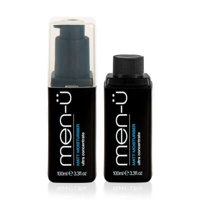 men-u refill kit - matująco-nawilżający balsam do twarzy zestaw 2x100 ml