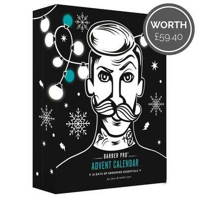 Barber Pro Advent Calendar  - 12 dniowy zestaw męskich kosmetyków do twarzy