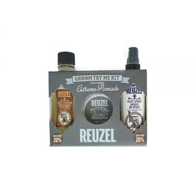 Reuzel Zestaw Try Me Kit Extreme - szampon, clay spray i pomada Extreme