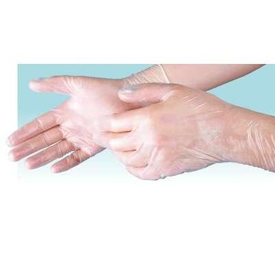 Menspace rękawiczki ochronne winylowe 200 szt. rozmiar XL