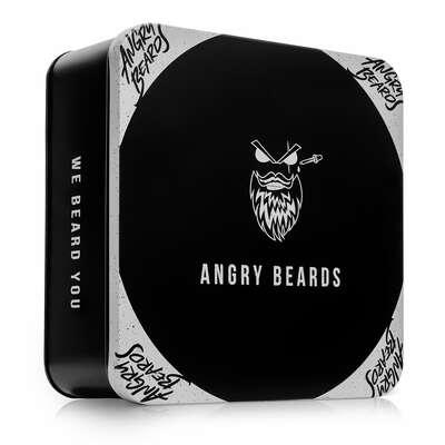 Angry Beards Zestaw kosmetyków do brody olejek Christopher, balsam Steve, wosk i szampon