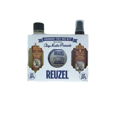 Reuzel Zestaw Try Me Kit Clay - szampon, clay matte pomade i surf tonic