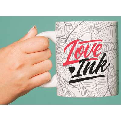 Loveink Najlepszy kubek ceramiczny dla osoby z tatuażem 300ml