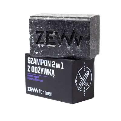 ZEW męski Szampon 2w1 z odżywką z węglem drzewnym z Bieszczad 85ml