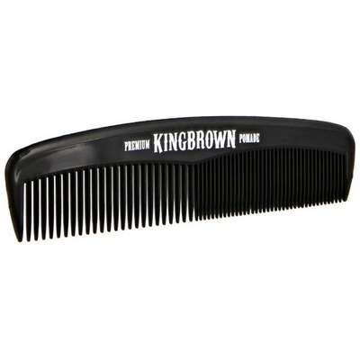 King Brown - kieszonkowy czarny grzebień do włosów