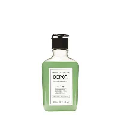 Depot 406 Niskopieniący i transparentny żel do golenia 100ml