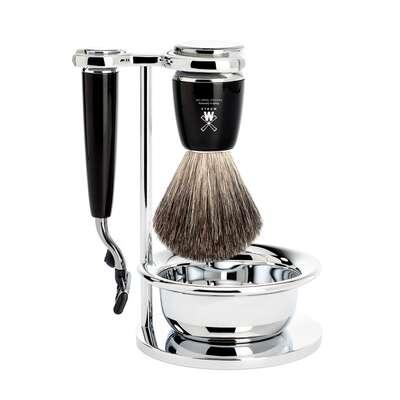 Muhle Rytmo Czarny - Zestaw do golenia 4-częściowy - Maszynka na ostrza gilette(S81M226SM3)