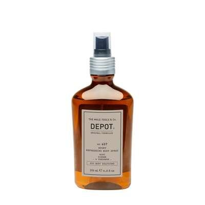 Depot 607 Odświeżający spray do ciała o zapachu mięty, imbiru i kardamonu - 200ml