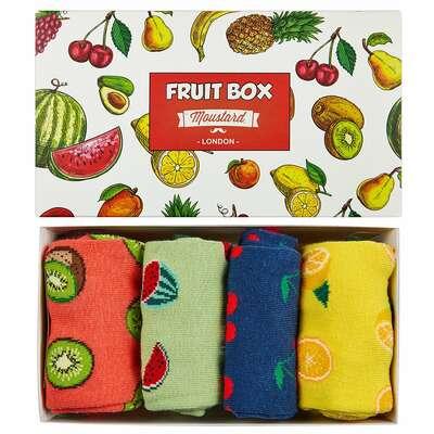 Moustard London - Fruit Socks Box - Zestaw prezentowy 4 pary skarpetek