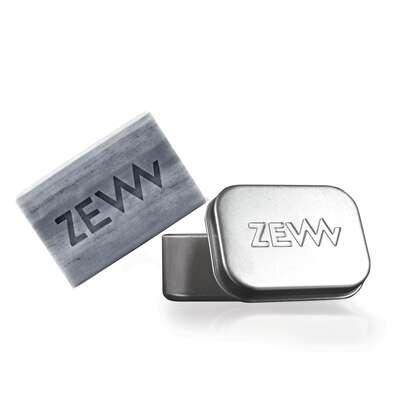 ZEW Zestaw męskie mydło aseptyczne ze srebrem koloidalnym z mydelniczką