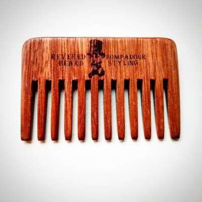 Half Ounce Cosmetics London - Uniwersalny drewniany grzebień do włosów i brody