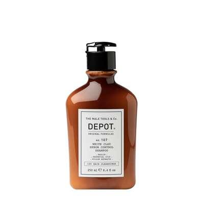 Depot 107 Szampon normalizujący wydzielanie sebum z glinką kaolin 250ml