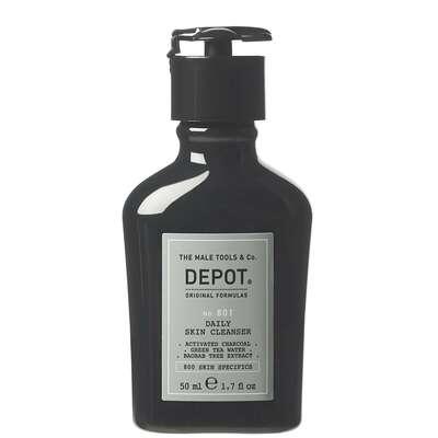 Depot 801 Oczyszczający żel do mycia twarzy z węglem aktywnym o potrójnym działaniu 50ml