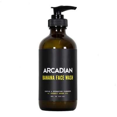 Arcadian - Banana Face Wash - Delikatny płyn do mycia twarzy dla cery wrażliwej 236ml