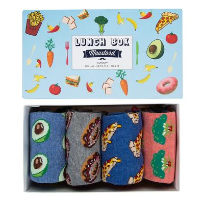 Moustard London - Lunch Socks Box - Zestaw prezentowy 4 pary
