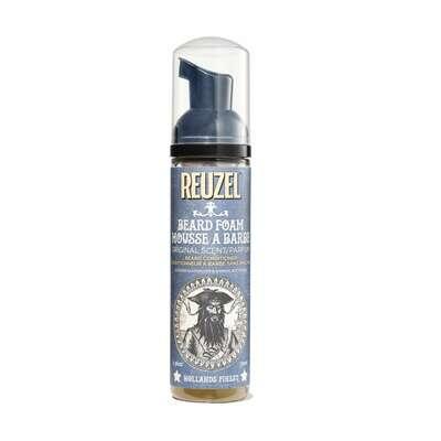 Zestaw do pielęgnacji brody - Reuzel balsam do brody, Reuzel pianka do brody oraz mały kartacz do brody marki ZEW