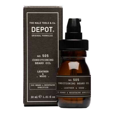 Depot 505 Odżywiający olejek do brody o zapachu drewna i skóry 30ml