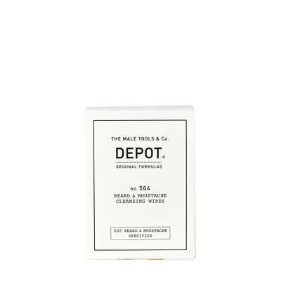 Depot 504 Chusteczki do oczyszczania brody i wąsów - 12 sztuk