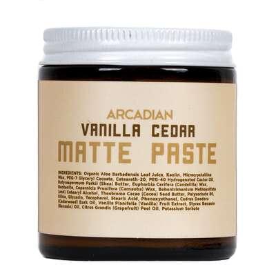 Arcadian - Vanilla Cedar Matte Paste - Matowa pasta do włosów o bardzo mocnym chwycie 115g