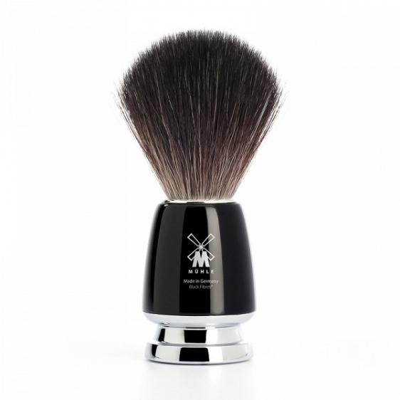 Muhle pędzel do golenia RYTMO Black włosie black fibre (21M226)