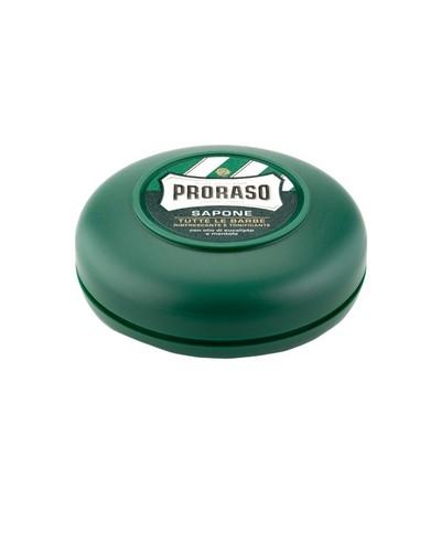 PRORASO mini mydło do golenia w tyglu linia zielona 75g